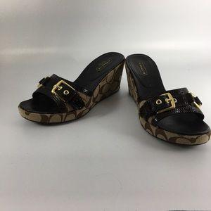 Coach Signature Wedge Sandals